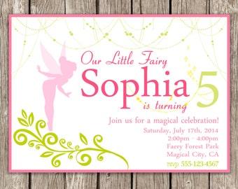 Magical Fairy Invitation - Fairy Birthday Party - DIY Printable