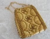 Vintage Goldtone Beaded Purse