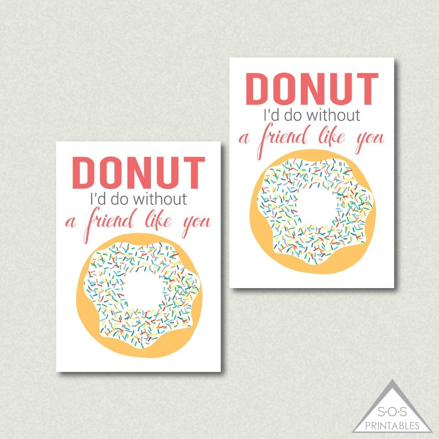 It is a photo of Fan Donut Valentine Printable