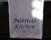 Personalized Name Kitchen Dish Towel With Sash
