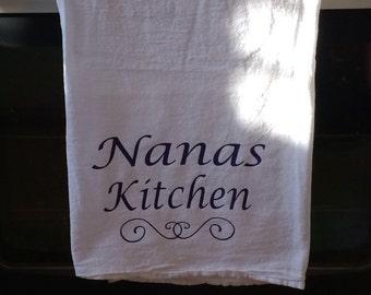 Personalized Name Kitchen Dish Towel With Sash
