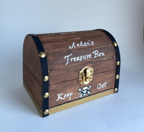 Personalized Baby Gifts Toy Box : Personalized pirate treasure chest toy box wooden by samiamart