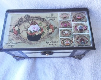 Stained Glass  French Country Recipe box