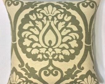 Green Ikat Pillow Cover, Decorative Throw Pillow, Accent Pillow