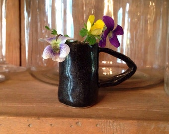 petite wildflower vase with handle