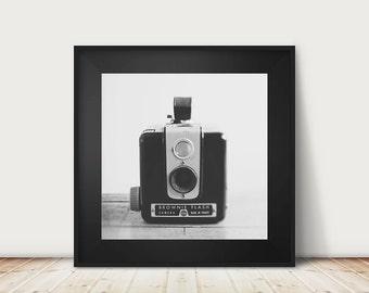 black and white photography vintage camera photograph kodak brownie photograph vintage camera print kodak brownie print
