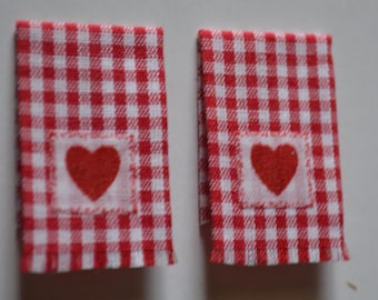 Heart Dish Towels