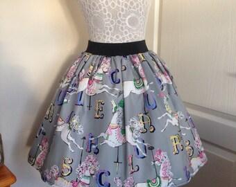 Carousel full skater style skirt