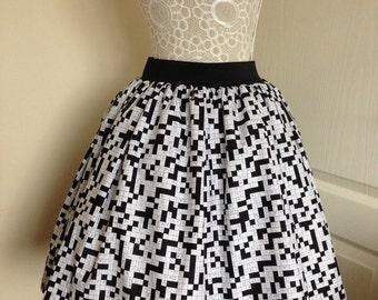 Crossword full skater style skirt