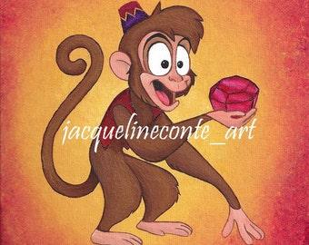 SALE! Abu - Disney's Aladdin Painting - Original
