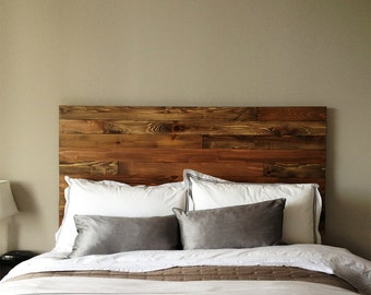 Cedar Barn Wood Style Headboard - Modern Rustic - Handmade In Chicago USA