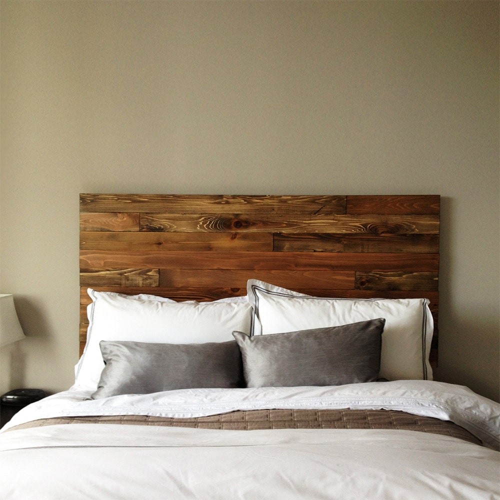 cedar barn wood style headboard modern rustic handmade in
