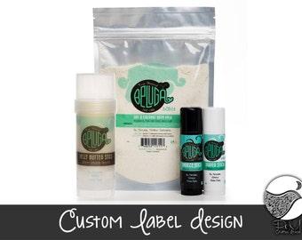 Custom Professional Product Label Design