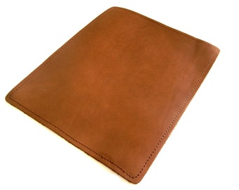 Leather Mouse Pad - Mouspad - Personalized Brown Leather Pad - Gifts for him
