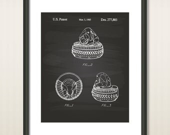 Star Wars Max Rebo 1985 Patent Art Illustration - Drawing - Printable INSTANT DOWNLOAD - Get 5 colors background
