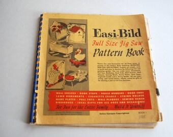 Vintage Easi-Bild Full Size Jig Saw Pattern Book