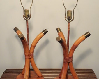Vintage Mid Century Cal-Tiki Lamps