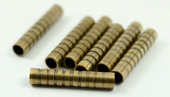 Pieces antique brass mm industrial tube spacers