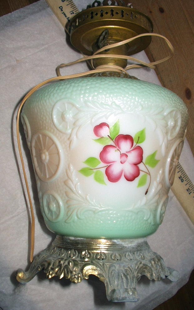 Gone With The Wind Flowers Pink Table Lamp No Top Lamp Shade