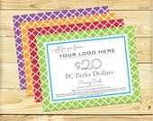 PC Perks Gift Certificate, Quatrefoil Design - DIGITAL FILE