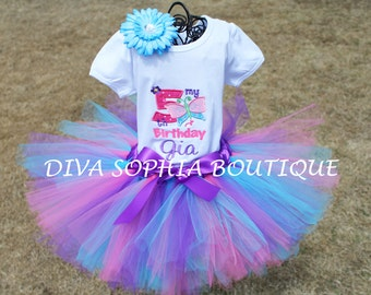 My Fifth Birthday Butterfly Tutu Set - Baby Infant Toddler  -  Butterfly Birthday Tutu Set