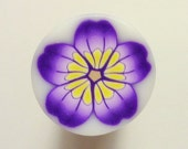 Yellow and Purple Flower Polymer Clay Cane