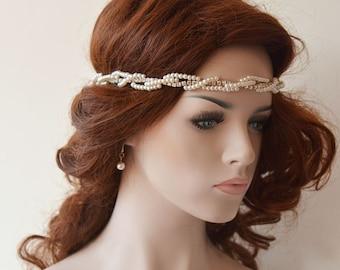 Wedding headbands,  Bridal Headband, Wedding Pearl Hair Accessories, Bridal Headbands, Headband Mariage, Wedding hair Accessory