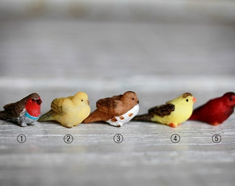 Fairy Garden Bird ONE - miniature bird - fairy accessories - fairy garden supplies - craft supply - terrarium supplies