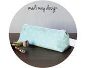 BOGO Sale Pencil Case - Triangle Pencil Case - Triangle Cosmetic Bag - Small Makeup Bag - Brush Holder -Makeup Brush Storage -Travel Bag