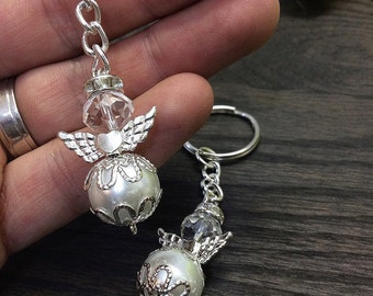 12pcs Angel keychain, christening favor, baptism angel favor