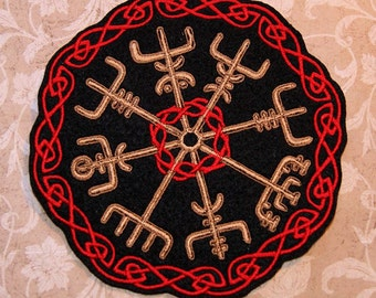 Vegvisir Viking Compass Iron On Embroidery Patch MTCoffinz - Choose Size