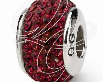 Sterling Silver Reflections January Full Swarovski Elements Bead (rb - 1252)