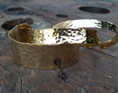 Plain Textured Hand Stamped Cuff Bracelet...Gold Tone,Mom Jewelry,Stacking Bracelet