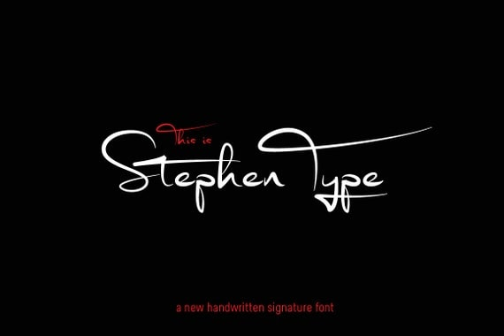 police de signature num rique stephen type police criture. Black Bedroom Furniture Sets. Home Design Ideas