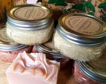 Body Polish/moisturizing, Exfoliating Soothing Lavender and/or Invigorating Rosemary, Eucalyptus & Peppermint (REP)
