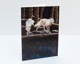 Wolves Christmas / Holiday Photo Greeting Card