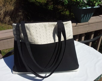 Black And Tapioca Tote