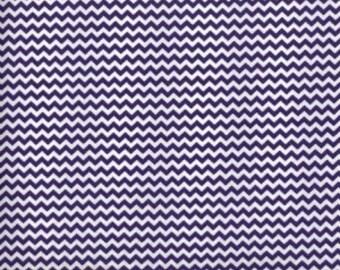 Mini Chevron --- Purple Chevron Fabric --- Cotton Fabric --- Fabric by the Yard