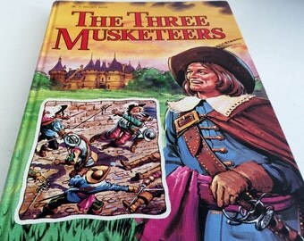 The Three Musketeers Retold by Jane Carruth and Illustrated by John Worsley -  Golden Book 1976