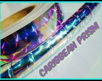 "1"" Caribbean Prism Reflective Hula Hoop Tape"