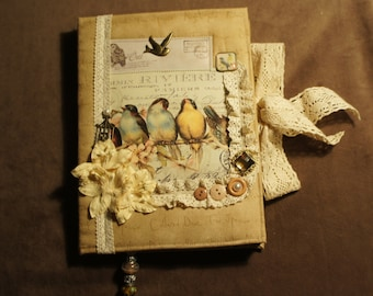 handmade notebook birds