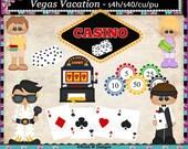 Viva Las Vegas Semi Exclusive Digital Clip Art Set - INSTANT DOWNLOAD - Scrapbooking Craft Clipart Elements
