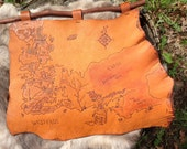 Game of Thrones inspired leather map of westeros
