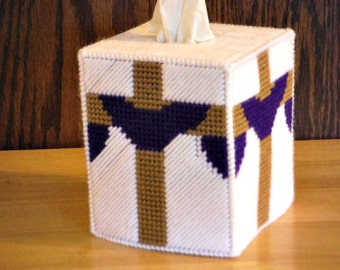 Easter Cross Plastic Canvas Tissue Box Cover, Easter Gift, He is Risen, Jesus, Christian Gifts, Religious Gifts