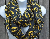 Infinity Scarf made from Batman Fabric
