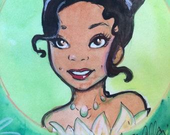 Princess Tiana Petite Painting