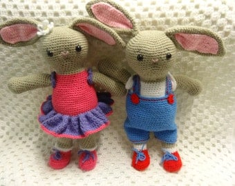 Crochet Rabbit, easter gift, easter bunny, animal softie, toddler gift, toddler toy