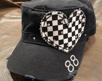 I heart RACING mom cadet hat