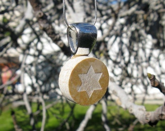 Star of David Necklace Made in Marble- Original and Unique, Brown or White. Wife, Girlfriend, Bride, Mother. Pin it if you like it!
