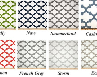 "Moroccan CURTAINS -  Premier Prints Fabric - Custom Drapery Panels - 50"" Wide - Scroll - Various Lengths - Grommets & Lining Options"